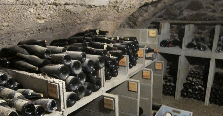 A look into the cellars at Domaine Barge.